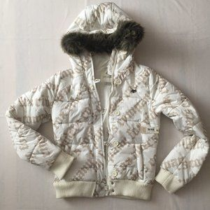 Winter Hooded Bomber / Snow Jacket Girls Size M